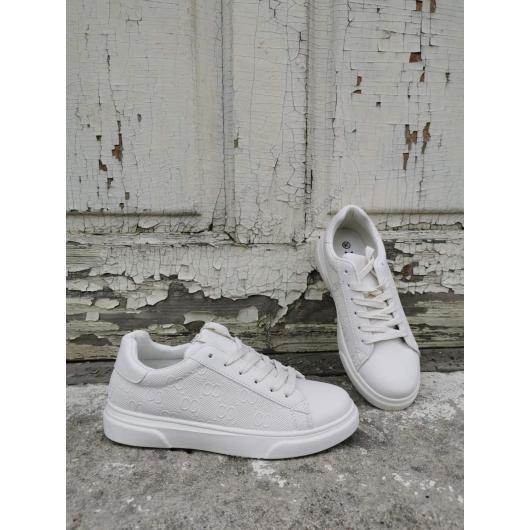 Бежови дамски ежедневни обувки Elda
