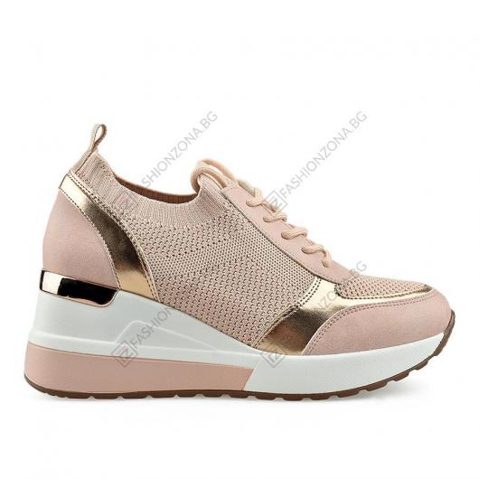 Розови дамски ежедневни обувки Anastazja