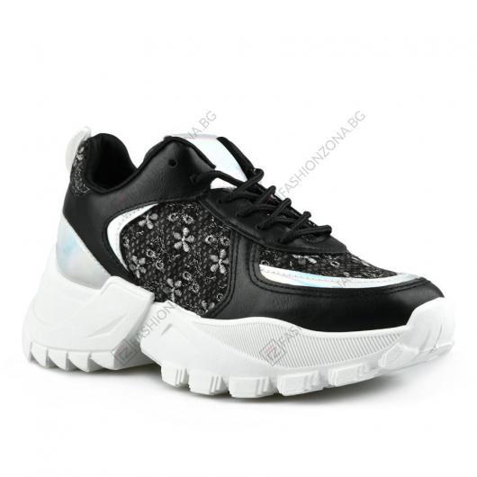 Черни дамски ежедневни обувки Dorika