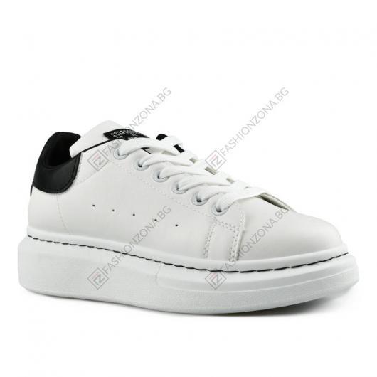 Бели дамски ежедневни обувки Lelia