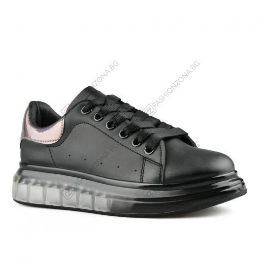 Черни дамски ежедневни обувки Jeong