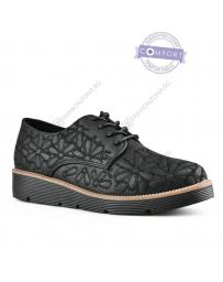 Черни дамски ежедневни обувки Hye
