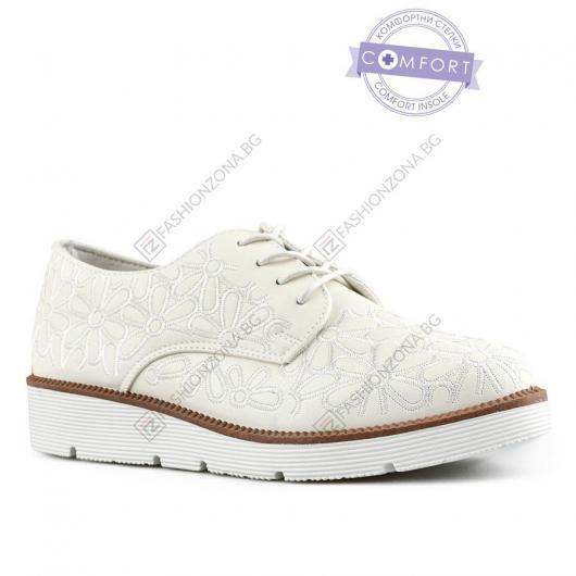 Бели дамски ежедневни обувки Cosima