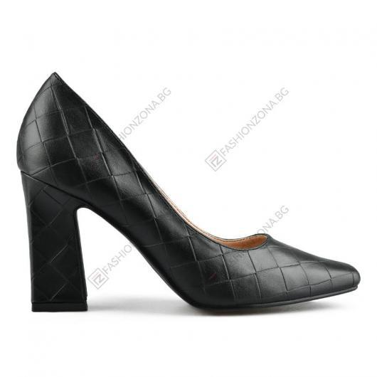 Черни дамски елегантни обувки Gavriila