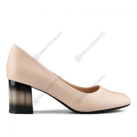Бежови дамски елегантни обувки Ressie