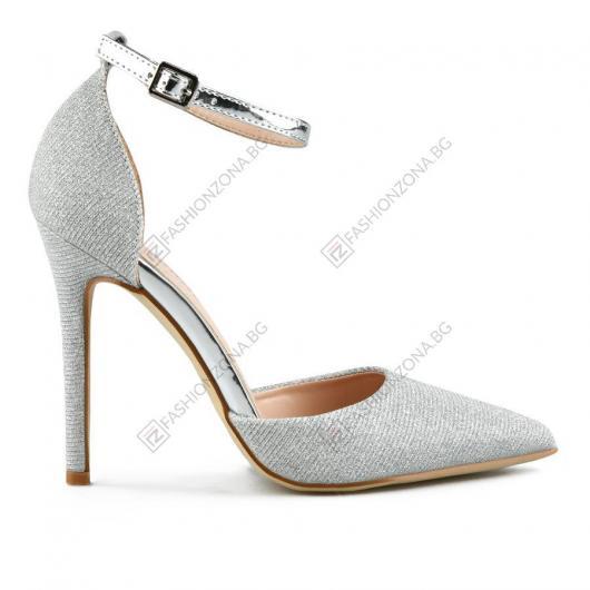 Сребристи дамски елегантни обувки Trijntje
