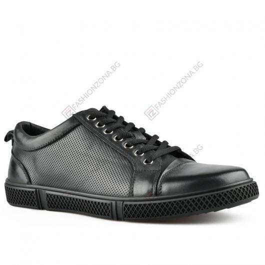 Черни мъжки ежедневни обувки Ezio