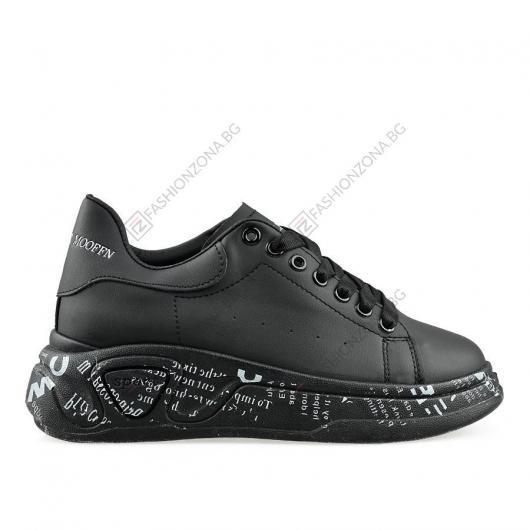 Черни дамски ежедневни обувки Abarrane