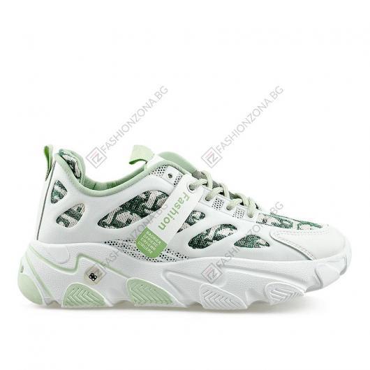 Бели дамски ежедневни обувки Moa