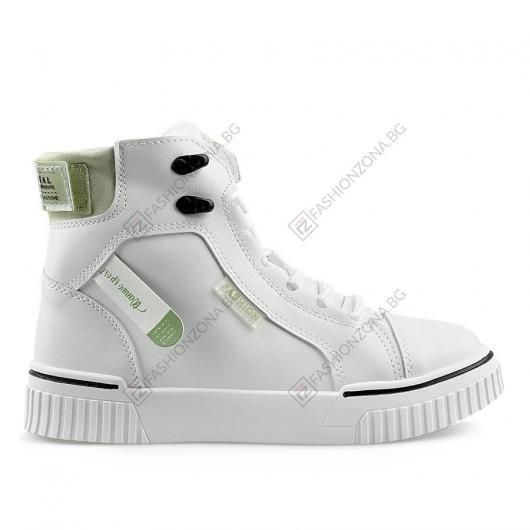 Бели дамски ежедневни обувки Beathag