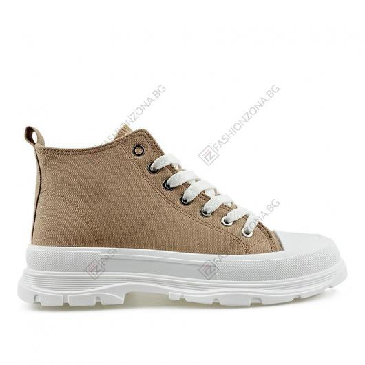 Бежови дамски ежедневни обувки Sunshine