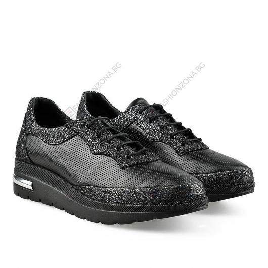 Черни дамски ежедневни обувки Raakel