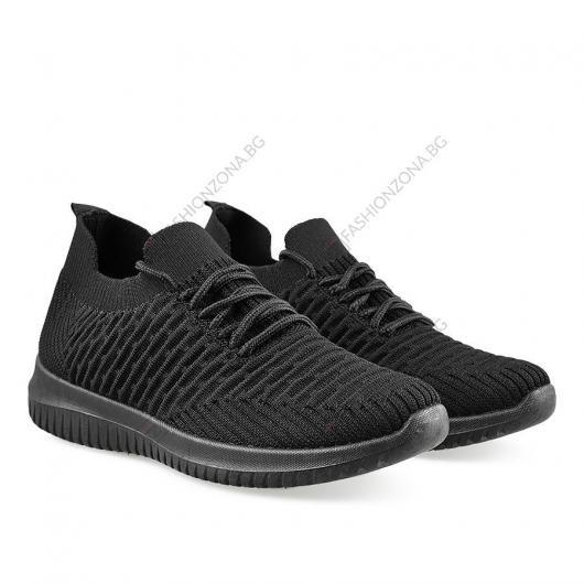 Черни дамски ежедневни обувки Mertie