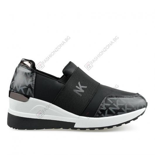 Черни дамски ежедневни обувки Adelheid