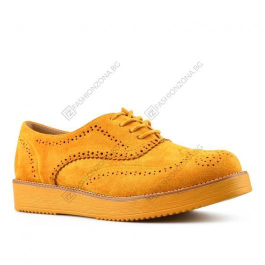 Жълти дамски ежедневни обувки Celina