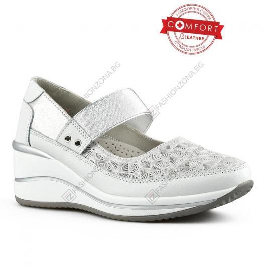 Сребристи дамски ежедневни обувки Christel