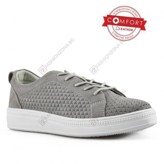 Сиви дамски ежедневни обувки Cuc