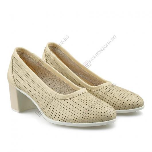 Бежови дамски обувки Hava