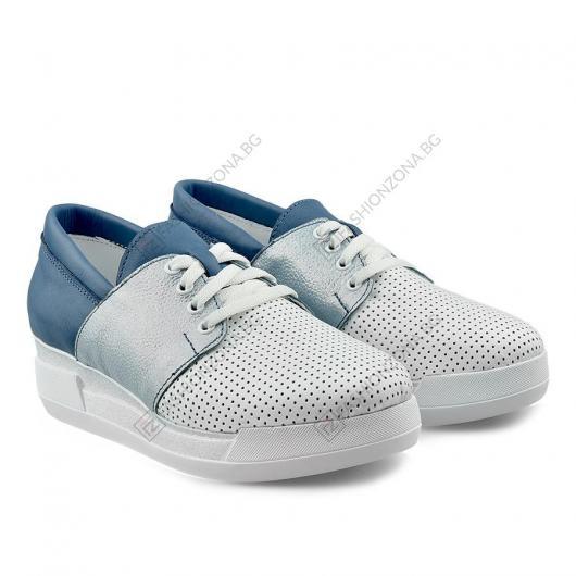 Бели дамски ежедневни обувки Sunday