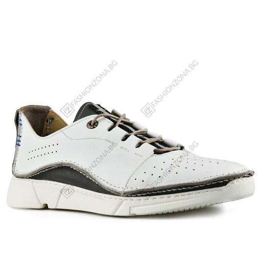Бели мъжки ежедневни обувки Angelo