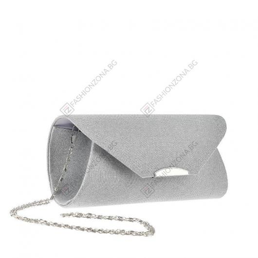 Сребриста дамска елегантна чанта Dilys