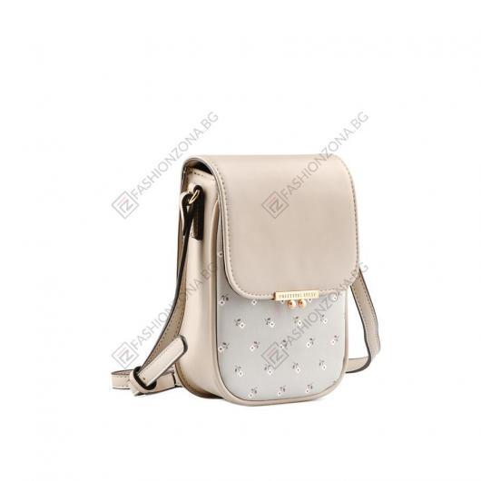 Бежова дамска ежедневна чанта Theola