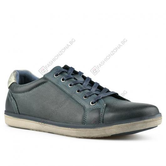 Сини мъжки ежедневни обувки Pier