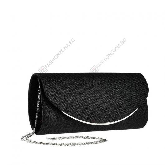 Черна дамска елегантна чанта Zan