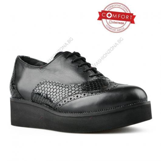 Черни дамски ежедневни обувки Emanuele