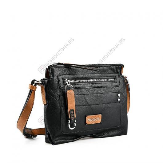 Черна дамска ежедневна чанта Jiao