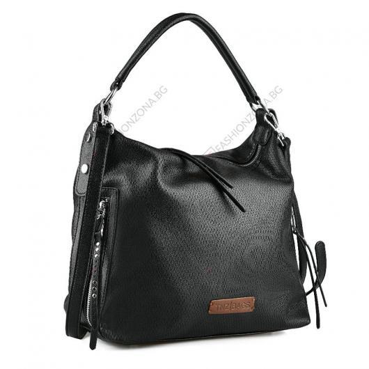 Черна дамска ежедневна чанта Edyta