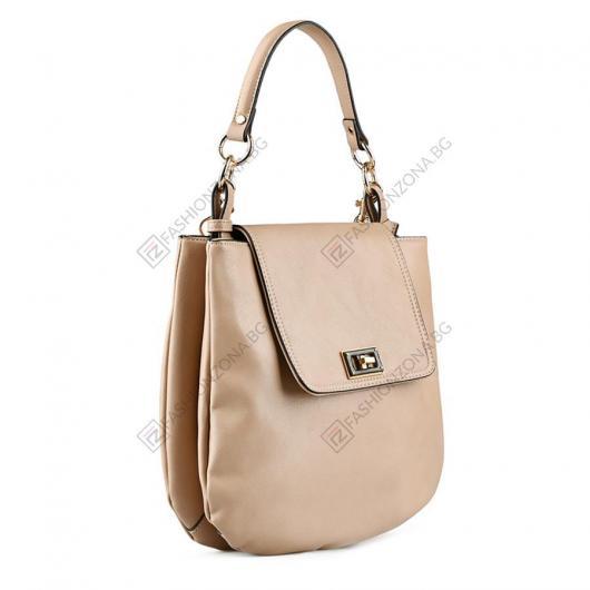 Бежова дамска ежедневна чанта Dabria