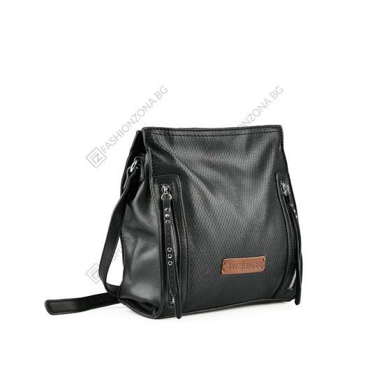 Черна дамска ежедневна чанта Abia