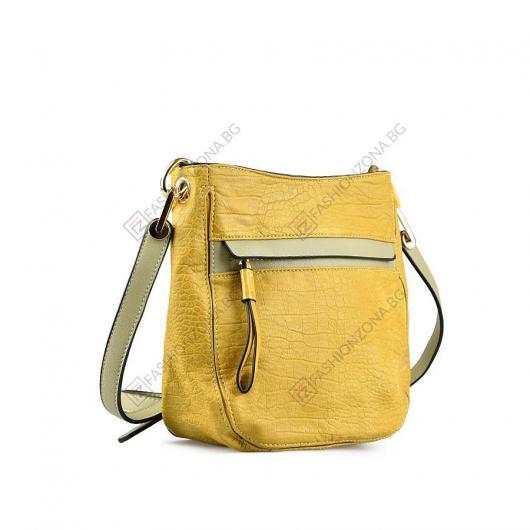 Жълта дамска ежедневна чанта Posy