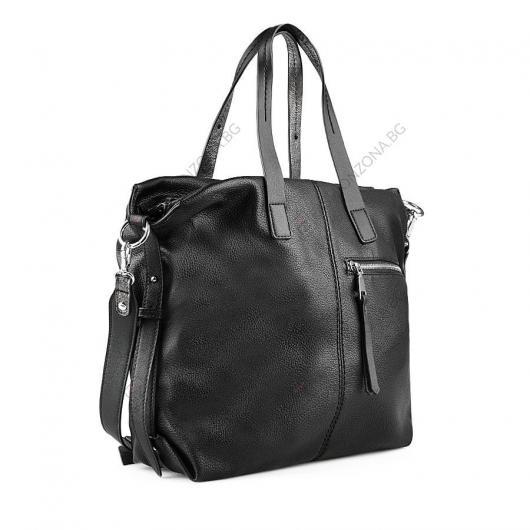 Черна дамска ежедневна чанта Drisana