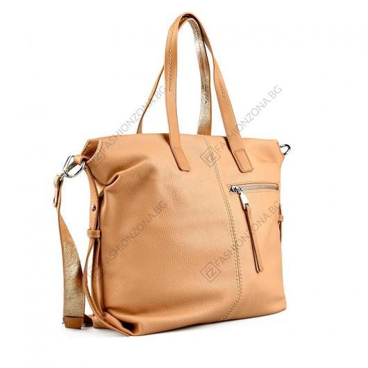 Кафява дамска ежедневна чанта Dorcas
