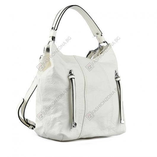 Бяла дамска ежедневна чанта Missouri