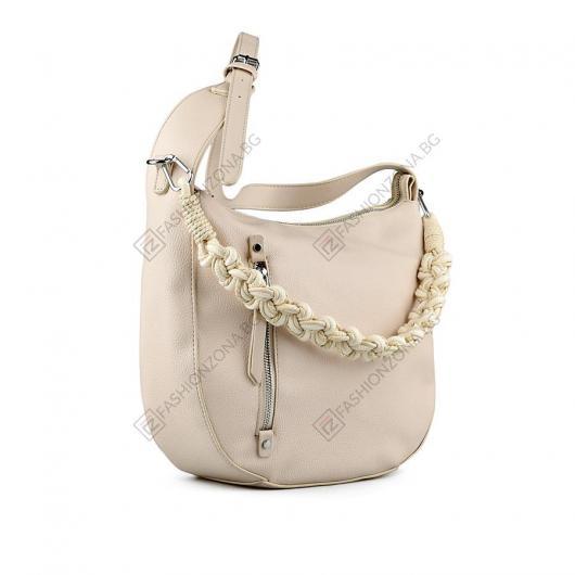 Бежова дамска ежедневна чанта Fen