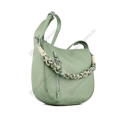 Зелена дамска ежедневна чанта Keitha