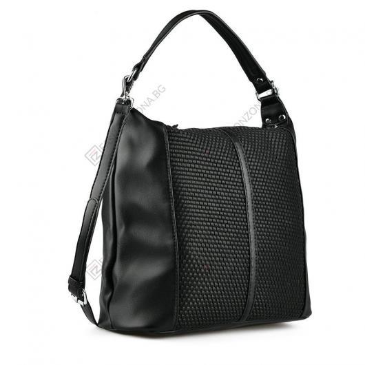 Черна дамска ежедневна чанта Torhild