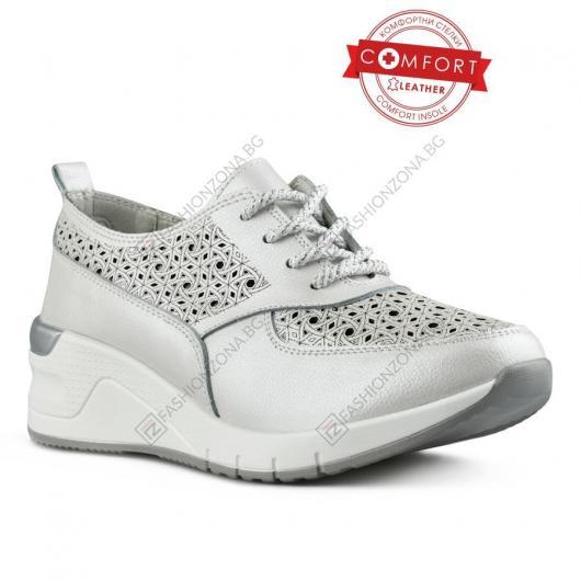 Бели дамски ежедневни обувки Oksana