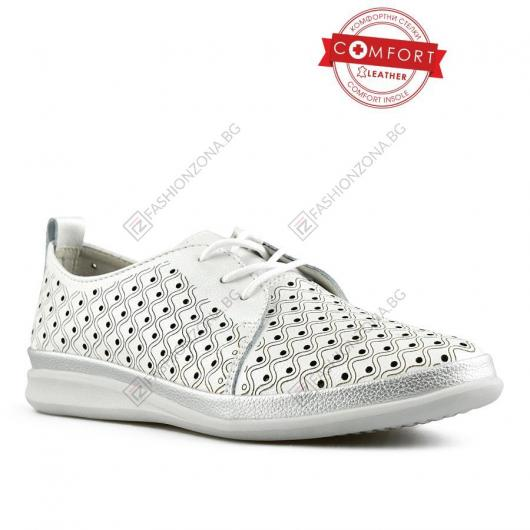 Бели дамски ежедневни обувки Terez