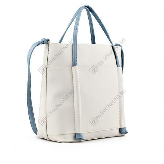 Бежова дамска ежедневна чанта Rahel