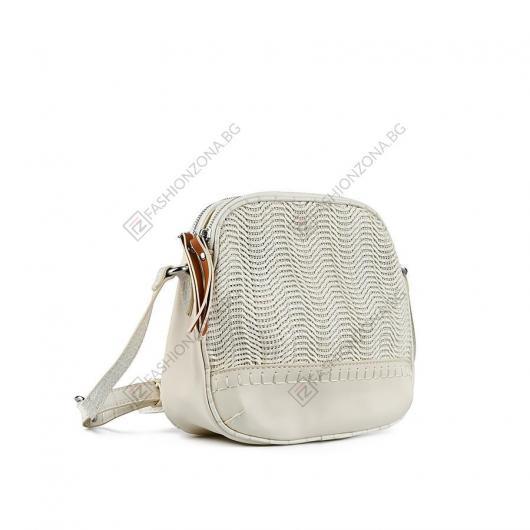 Бежова дамска ежедневна чанта Iveta