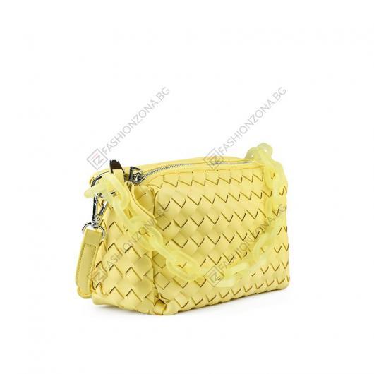 Жълта дамска ежедневна чанта Ziba
