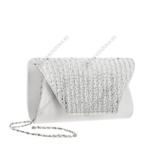 Сива дамска елегантна чанта Dame