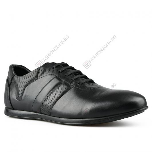 Черни мъжки ежедневни обувки Maximillano
