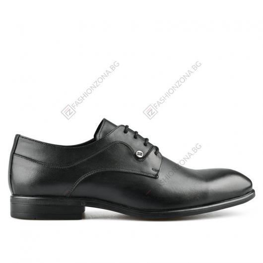 Черни мъжки елегантни обувки Lucas