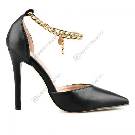 Черни дамски елегантни сандали Matea