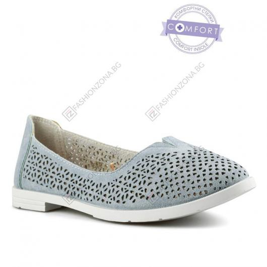 Сини дамски ежедневни обувки Cilla
